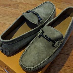 Mens Tod's City Gommino Canvas Bit Drivers/Loafers